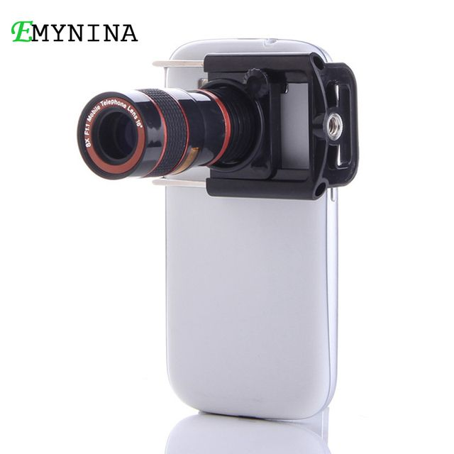 Universal Cell Phone 8X Telephoto Lens Hiking Concert Camera Lens with Stretchable Clip for IPhone and Most Smartphone