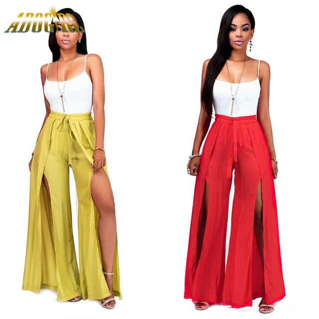 Adogirl Sexy  Rompers Women Jumpsuit Fashion Off Shoulder Sleeveless Rompers Womens Two Piece Outfits Bandage Women Long Pants