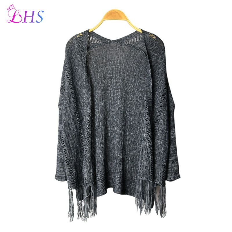 1X Vintage Cardigans Blouses Autumn Womens Tassels Tops Open Stitch Winter Punk Rock Sweater Women's Knitting Clothing Clothes