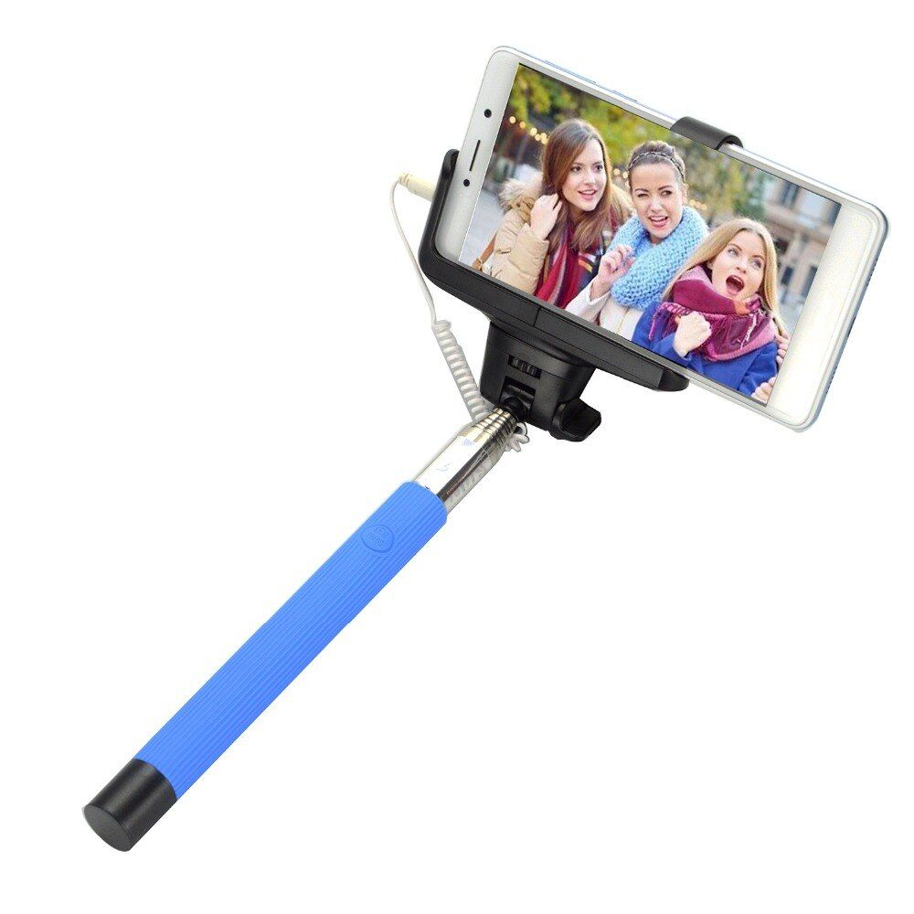 Wired Selfie Stick Extendable Handheld Monopod Self Portrait Tripods For iphone Samsung Xiaomi Huawei