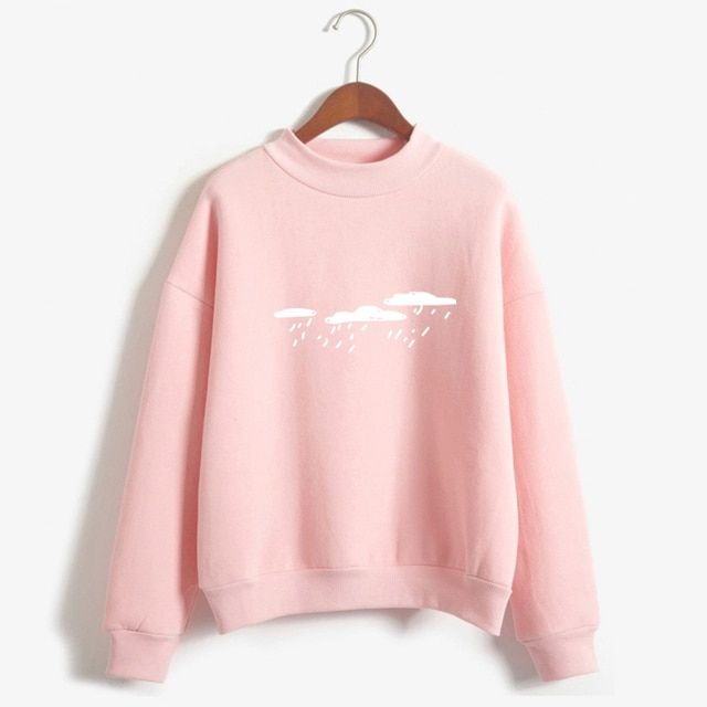 New 2016 Hoody Spring Autumn Long Sleeve Casual Harajuku Pink Sweatshirt Women Cute Printed Hoodies Moletom Feminino Oversize