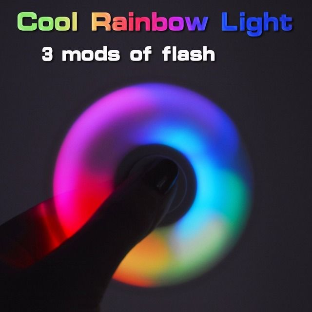 LED Light Fidget Spinner Finger Plastic EDC Hand Spinner LED For Autism and ADHD Relief Focus Anxiety Stress Wheel Luminous toy