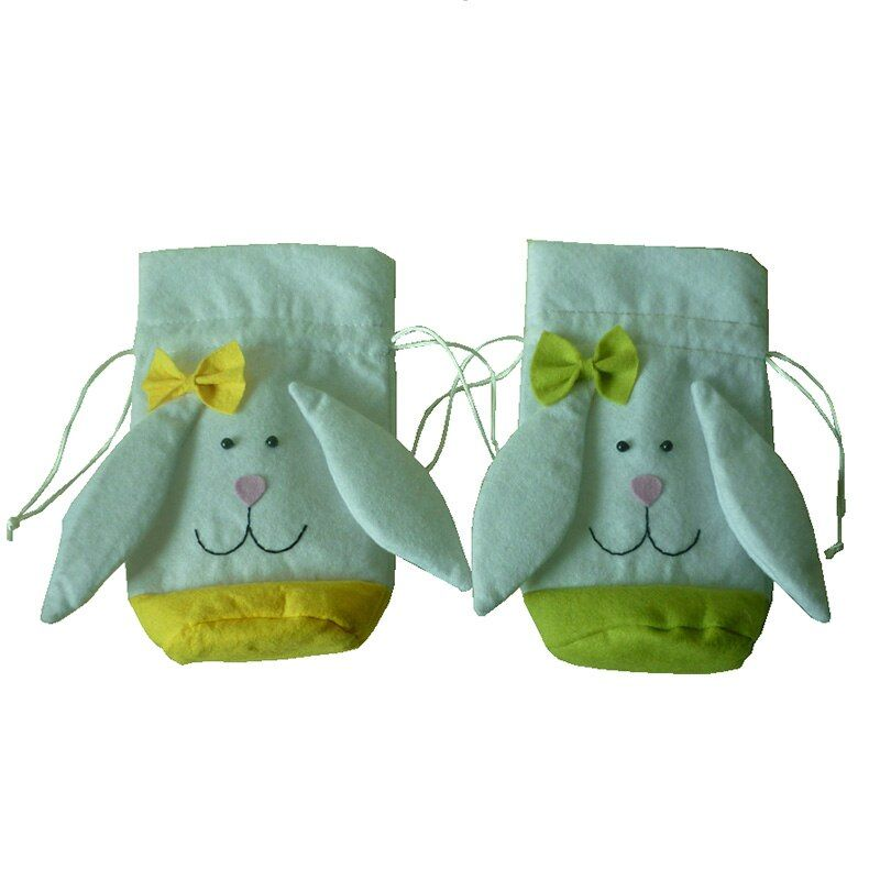 Easter Decorations For Home Rabbit Ear Gift Bags Cute Easter Rabbit Birthday Halloween Easter Candy Bag Party Kids