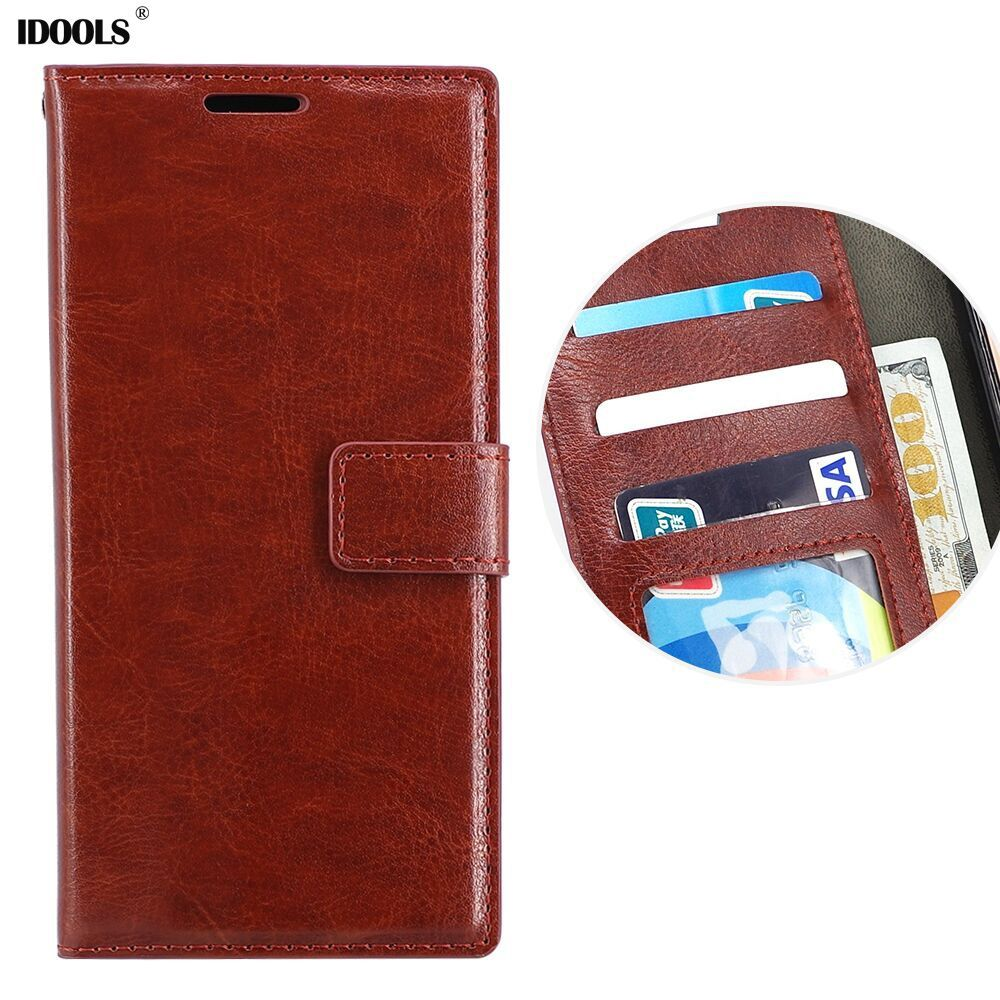IDOOLS Brand Luxury Leather Case For LG G5 Cover Wallet Cases for LG G4 G3 G6 K10 K7 K4 V10 V20 X Power Stylo Stylus 3 K8 2018