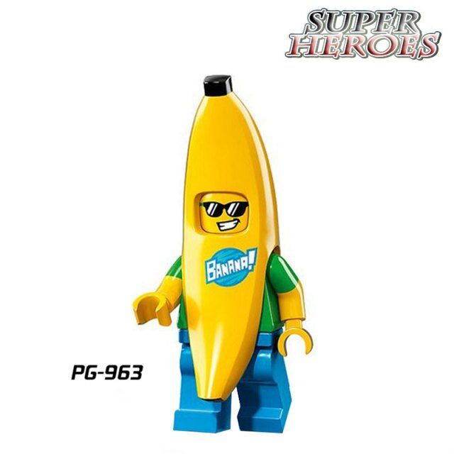 Building Blocks Mr Banana Guy Super Heroes Avengers Star Wars Deadpool diy figures Bricks Kids Toys Hobbies Xmas DIY Gift PG963