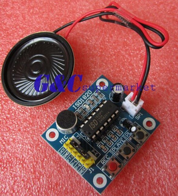 1PCS ISD1820 Voice Recording Playback Module With MIC + Loudspeaker