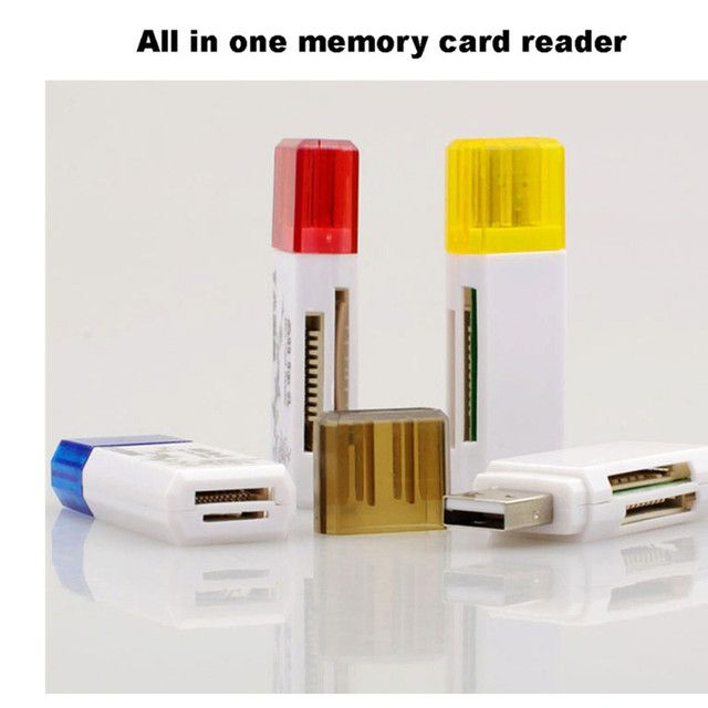 Hot sale TF/ MS/M2/TF/ TFHC TFXC Micro TF Memory Stick   Compatibility /Retail USB 2.0 All in One Multi Card Reader, M2 hot ca24