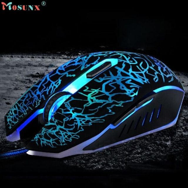 Adroit Professional Colorful Backlight 4000DPI Optical Wired Gaming Mouse Mice JAN12 drop shipping