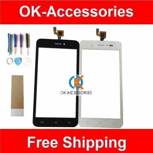 New Replacement For Wiko Lenny Touch Screen Digitizer With Tools Black White Color 1PC/Lot With Tape & Tools