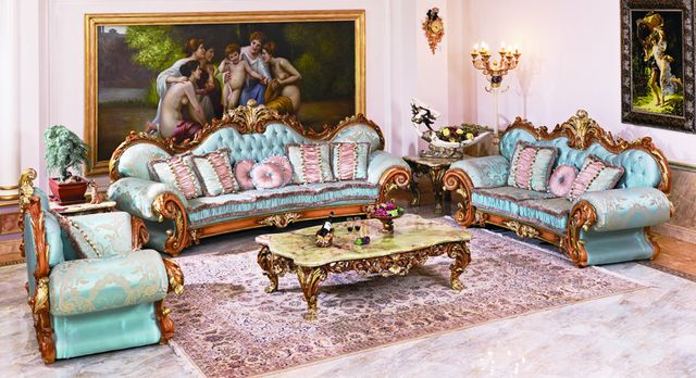 luxury European style antique vintage comfortable living room sofa set