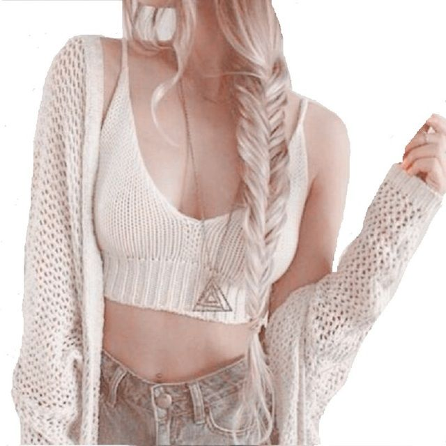 2017 Summer Fashion Brandy Melville Crop Tops Women Crochet Festival Top Cropped Sexy Beach Brami White Crop Tank Tops Femme
