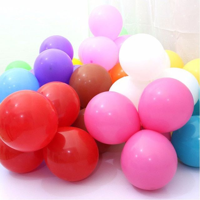 20pc 10 Inch Thick 2.2 g latex Ballons Birthday  Wedding Decorations Balloons Pink White Purple Globos Party supplies  Wholesale