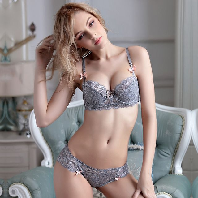 New 2016 Thin cup women's lace underwear sexy push up thin fashion bra set