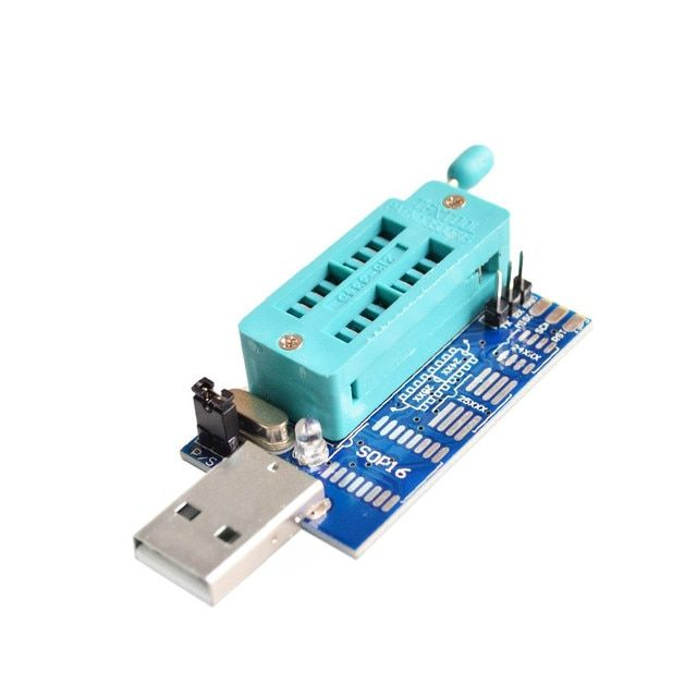 Free Shipping Bios Board MX25L6405 W25Q64 USB Programmer LCD Burner CH341A Progammer for 24 25 Series