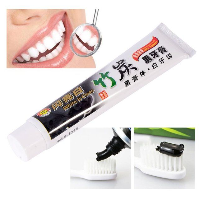 100g Bamboo Charcoal All-purpose Teeth Whitening The Black Toothpaste 1PCS