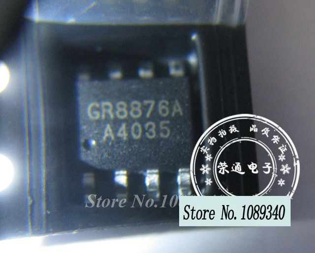 5pcs Free shipping GR8876A GR8876AKG GRRGY SOP-8 offen use laptop chip 100% new original