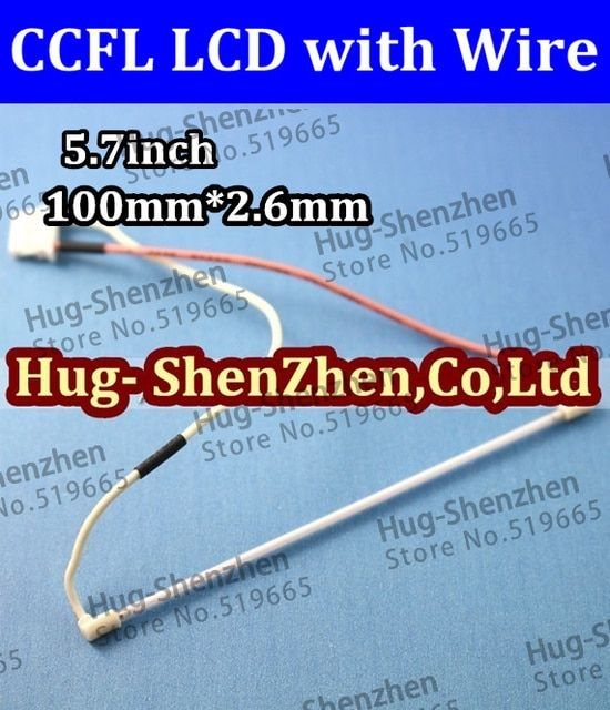 NEW LCD  50pcs 5.7inch 100mm  x 2.6mm ccfl lamp professional lamp /ccfl backlight  with wire harness/cable No welding CCFL LCD