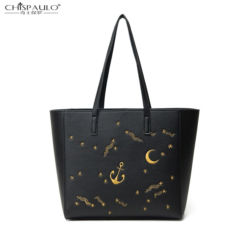 2016 autumn and winter new European and American fashion trend Tote bag high quality embroidery printing portable shoulder bag s