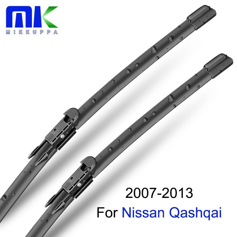 Mikkuppa Front & Rear Wiper Blades For Nissan Qashqai 2007 2008 2009 2010 2011 2012 2013 Windscreen Wipers Auto Car Accessories