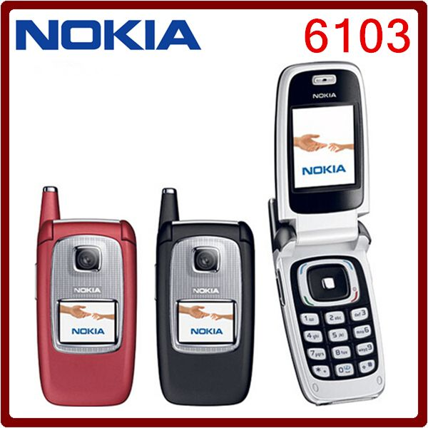 Unlocked Original NOKIA 6103 Triband Bluetooth Camera Vedio FM Jave Cheap Mobile Phone refurbished  Good  quality