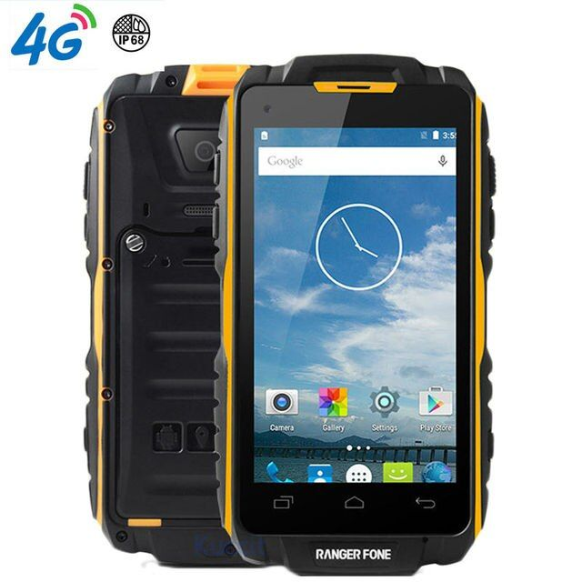 "original Ranger fone S18 Waterproof Shockproof Phone Rugged Android Smartphone MTK6735 Quad Core 4.5"" 2GB RAM min 4G LTE GPS"