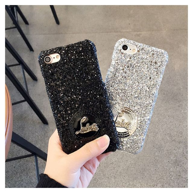 Coque For iPhone 6 6Plus Case Luxury Brand French CL Glitter Diamond Back Cover Fundas For iPhone 7 7 Plus Glitter Cases