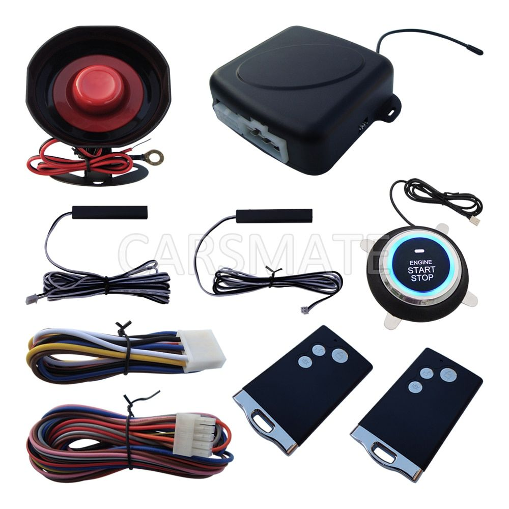 Smart RFID PKE Car Alarm System Passive Keyless Entry Remote Engine Start Stop Push Start Car Auto Arm Disarm Many Hopping Code