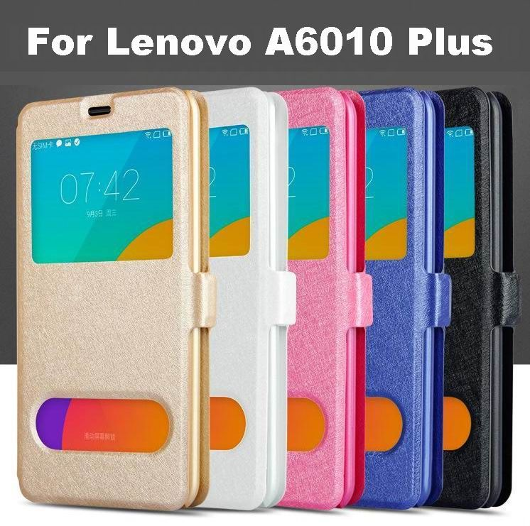 Flip Case for Lenovo A6010 Case Cover for Lenovo A6000+ Window Quick View Phone Case for Lenovo A6000 Plus