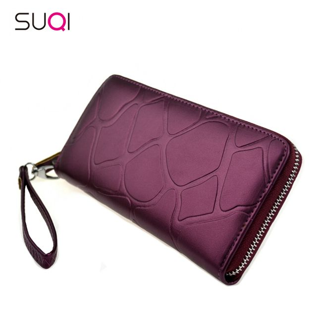 SUQI Pu Women Wallet Fashion Casual Female Wallet Long Wallet For Women Teenage Girl Cartera Women Purse Wallet