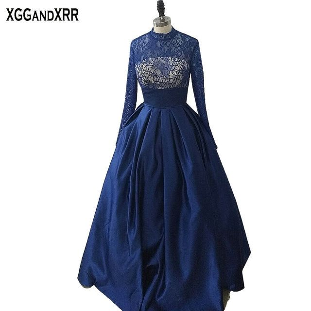 New Arrival Blue Satin A-Line Prom Dresses 2018 Spaghetti Straps Vestido De Festa Floor Length Custom Made Formal Party Gowns