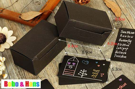 New fashion style DIY black paper card pack (100 cards / pack ) / letter card / wholesale