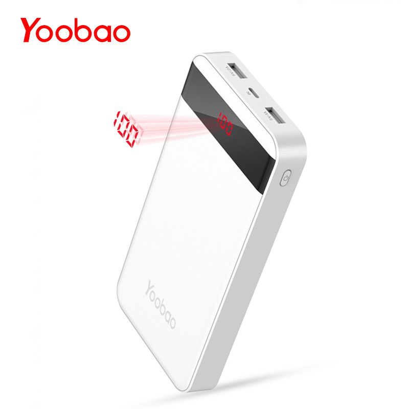 Yoobao M20Pro 20000mAh Portable Charger Dual USB Output/Input (Lightning&Mircro Input) Mobile Phone External Battery Pack