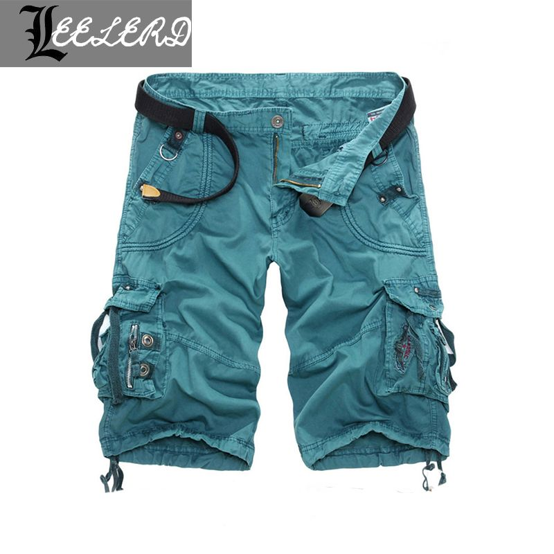 2016 Big Size Knee Length Summer Floral Style New Fashion Men Overalls Camouflage Men's Shorts High-quality Casual Short