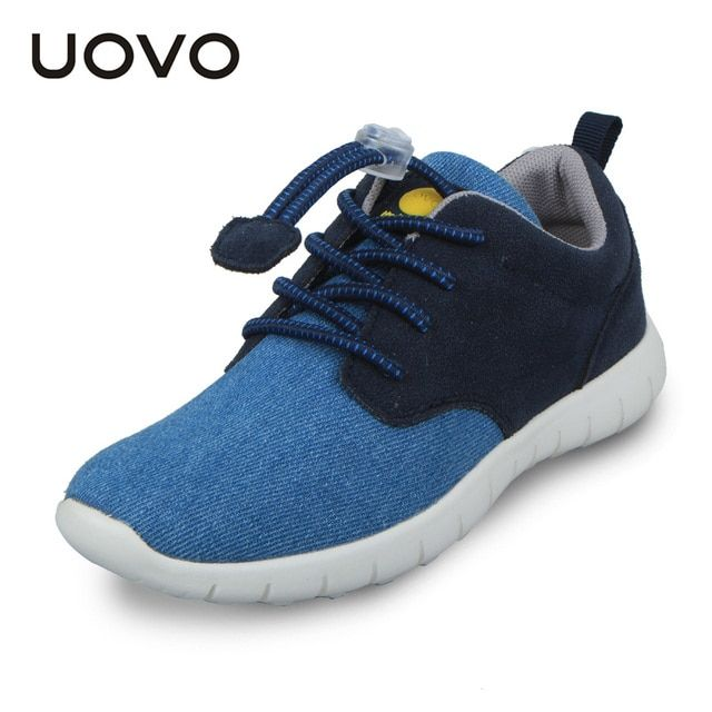 UOVO Children Canvas Shoes Boys Sneakers Brand Lightweight Walking Shoes For Kids Spring Breathable Footwear Big Kids Shoes