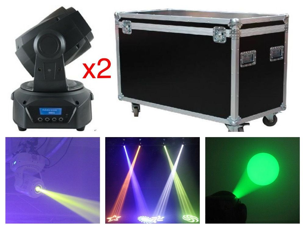 2pcs/lot+flightcase,China LED Moving Head Spot 75W RGB Gobo Light with 3 prism 60W DMX stage disco wash light