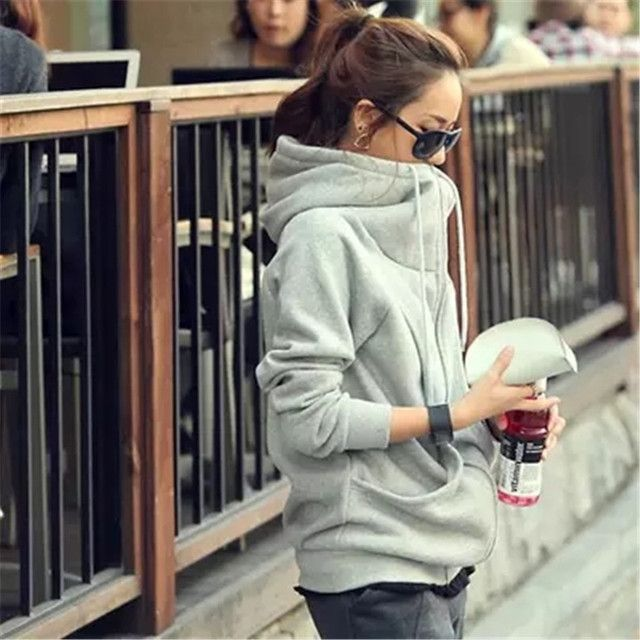 Autumn/winter female sweatshirt coat large size women thick plus velvet women hoodies,hooded  jacket,sweatshirts TT1605