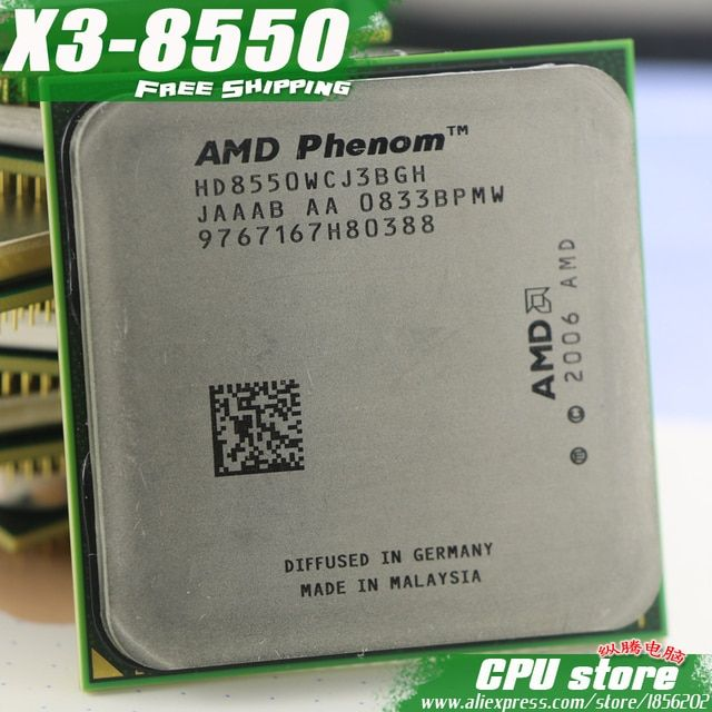 AMD Phenom X3 8550 2.2GHz Triple Core Processor Socket AM2/AM2+ 940-pin cpu, 95W L3=2M, free shipping, there are, sell X3 8650