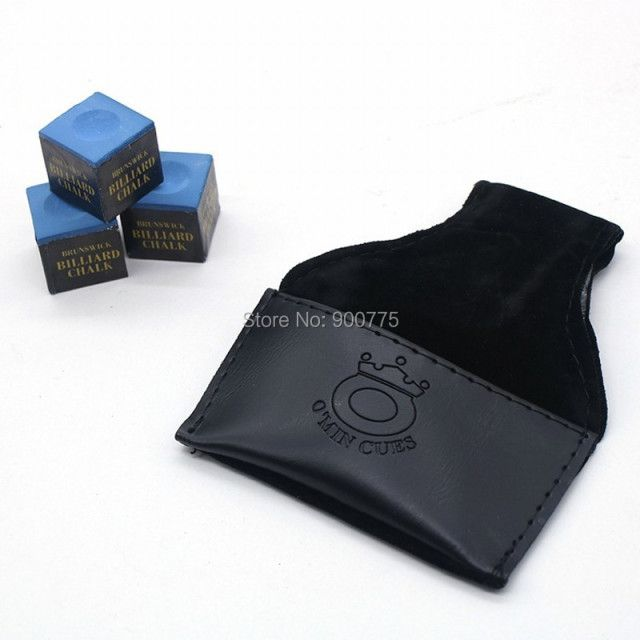 O'Min Snooker & Pool Chalk Pouch Holder With Belt Clip billiards accessories - Black/Brown(optional)