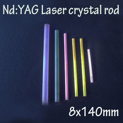 8x140mm Nd: YAG laser crystal rods