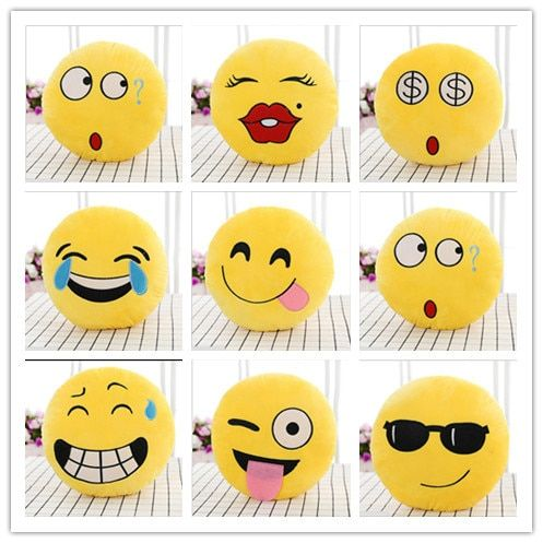 Hot Sale Cute Small Emoji Smiley Emoticon Amusing  Soft Toy Gift Pendant Bag Free Shipping