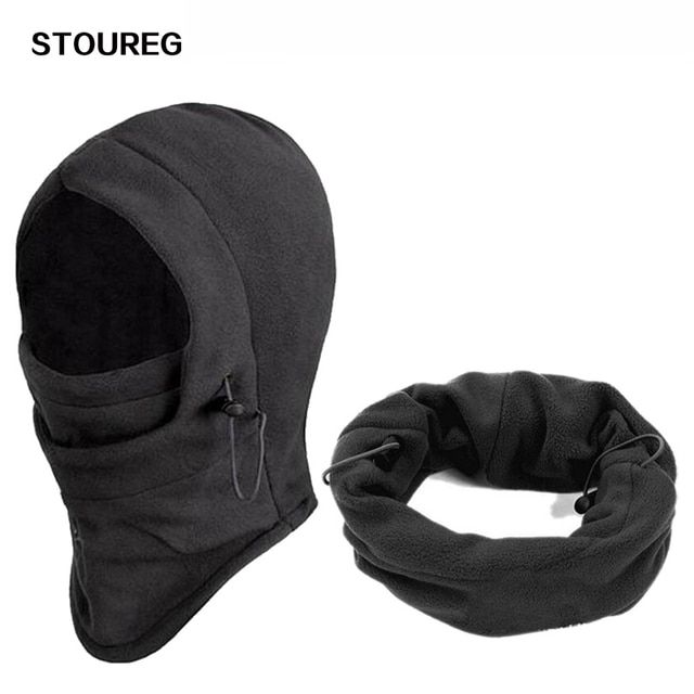 Winter Windproof Cycling Face Mask, Balaclava Thermal Fleece Scarf, Bike Cycling Hiking Caps, Snowboard Ski Hook Neck Warmer