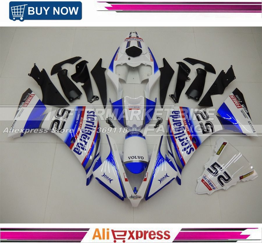 3mm Thick Aftermarket Durable ABS Fairing Kits For Yamaha 2009 2010 YZF R1 2011 Motorcycle Injection Plastic Free Windshield