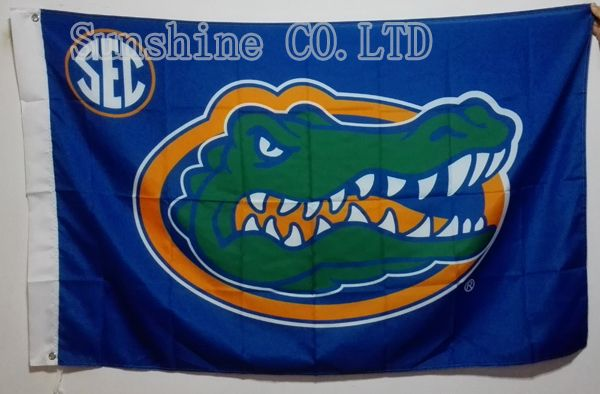 University of Florida Gators Flag hot sell goods 3X5FT 150X90CM Banner brass metal holes FG09