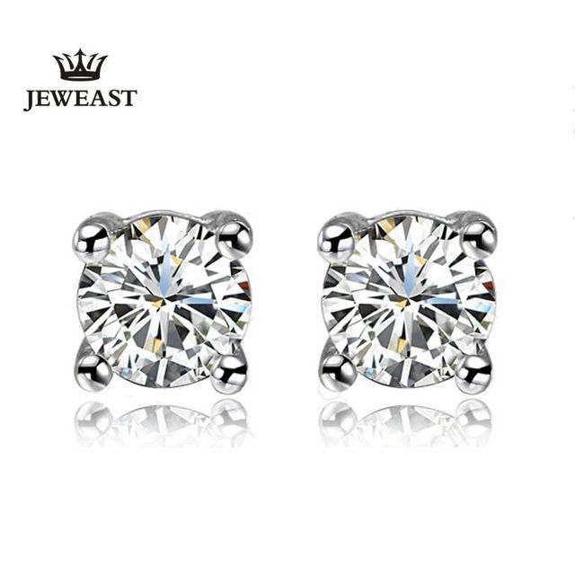JEWEAST 925 Sterling Silver Jewelry Diamond Retro Earrings Women Platinum Gold Plated Sexy Ladies Evening  2Pair