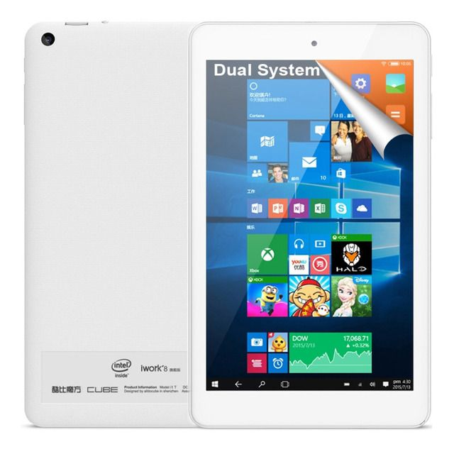 Original Cube iwork8 Ultimate Intel Cherry Trail Z8300 Quad Core 8 inch Windows 10 & Android 5.1 Dual Boot 2GB + 32GB Tablet PC