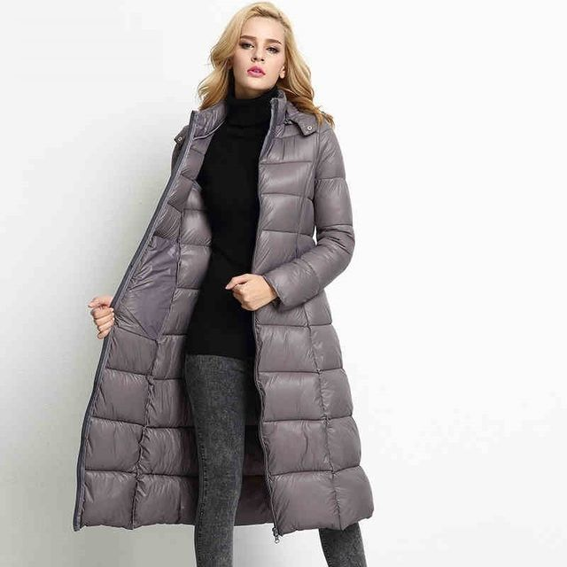 X-Long Style Ladies Down Cotton Jackets 2016 Winter Women Parkas Coat Removable Hooded Warm Ladies Thicken Outerwear CT197