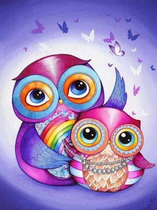 Needlework Owl Diamond Painting Embroidery Icon Beads Dmc Cross Stitch Patterns Rhinestone Knitted Cruz Diamond Mosaic
