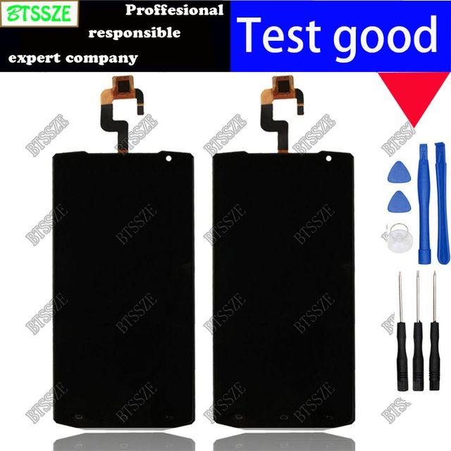5.5 black 100% original lcd display + touch screen assembly TP for oukitel k10000 Glass Panel Digitizer Replacement