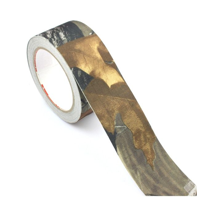 ROCOTACTICAL Camouflage Duct Tape Self-cling Rifle Wrap Ripstop Hunting Camouflage Tape Camo Stealth Tape