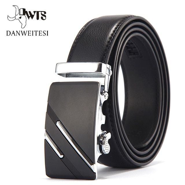 [DWTS]Men's belt Designer Leather Strap Male Belt Automatic Buckle Belts For Men black Belts Cummerbunds genuine leather strap